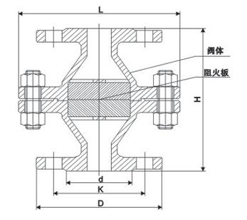 管道阻火器结构图