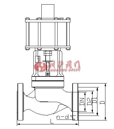 气动程控阀 结构尺寸图