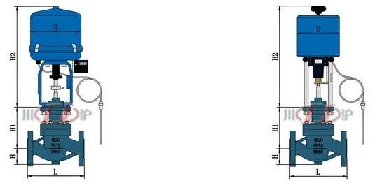 电控自力式温度调节阀 结构图